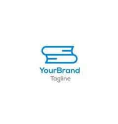 double book logo template vector image