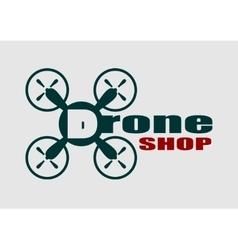 Drone icon Drone shop text vector