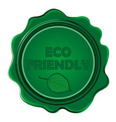 eco friendly wax seal vector image