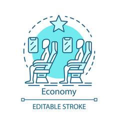 Economy class concept icon airplane cabin idea vector