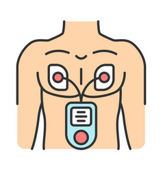 Electrical muscle stimulator color icon vector
