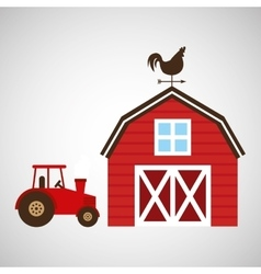 Farm and truck icon vector