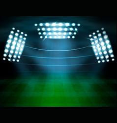 Football stadium lighting composition vector