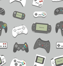 Gamepad seamless background vector