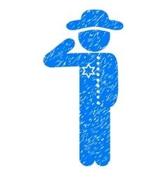 Gentleman Officer Grainy Texture Icon vector