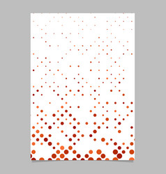 geometric dot pattern flyer template background vector image