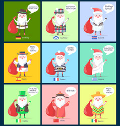 Germany scotland santa clauses vector