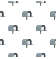 Gray mailbox pattern flat vector