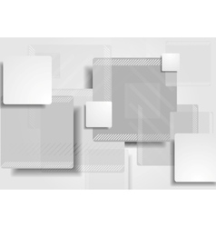 Grey tech squares background vector