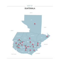 Guatemala map with red pin vector