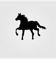 Horse race derequestrian sport silhouette vector