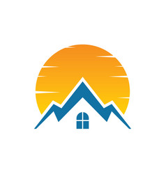 house sunset logo image vector image