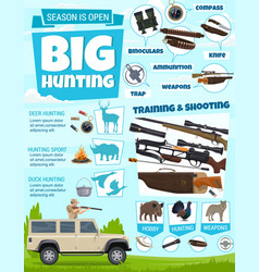Hunter ammunition bird and animal hunting vector
