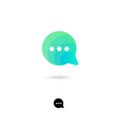 icon chat web information communication vector image