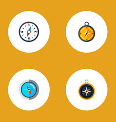 icon flat direction set of divider measurement vector image