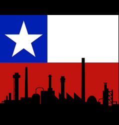 Industry and flag of chile vector