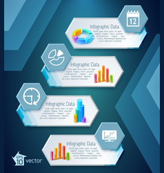 Infographic business banners vector