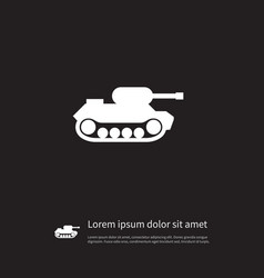 isolated battle icon military element can vector image