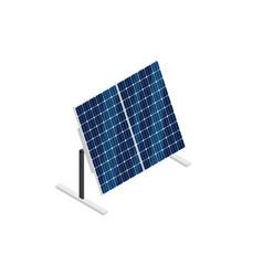 Isometric solar panels isolated on white vector