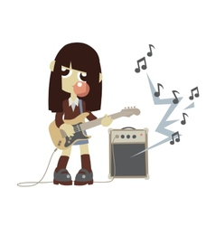 Japanese rock star girl vector image