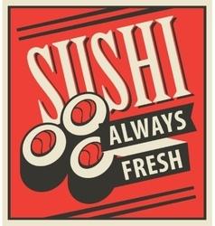 Japanese sushi food vector