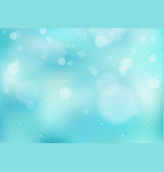 light blue winter background with snowfall vector image