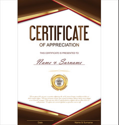 Luxury certificate or diploma template 1 vector
