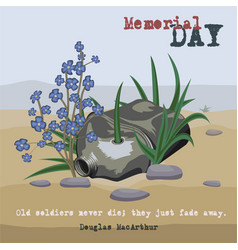 Memorial day card vector