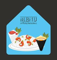 menu japanese food vector image