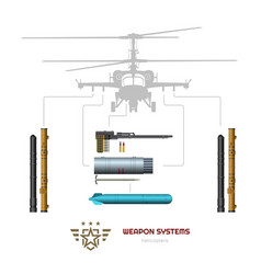 military weapon airplane or helicopter vector image