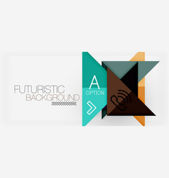 Minimalistic triangle modern banner design vector