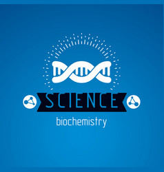 model of human dna double helix bioengineering vector image