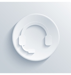 modern headphones light circle icon vector image vector image