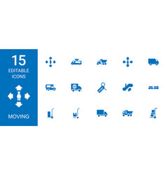 moving icons vector image