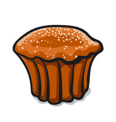 Muffin cake vector