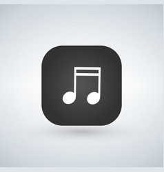 music note sign icon or musical symbol over vector image