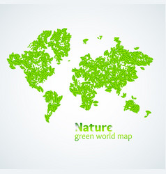 nature green map of the vector image