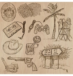 Objects - an hand drawn pack vector image