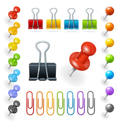Pins and Paper Clips Collection vector