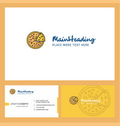 pizza logo design with tagline front and back vector image