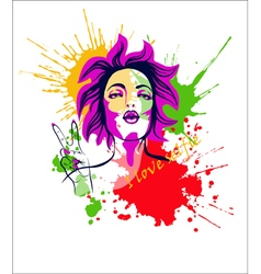 Pop art girl4 vector