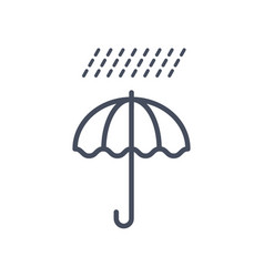 rain weather icon climate forecast concept vector image