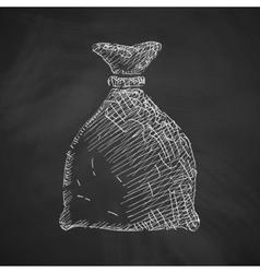 sack icon vector image