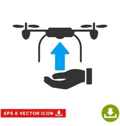 Send Drone Hand Eps Icon vector