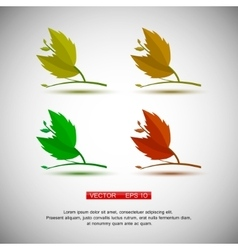 Set of four plant or leaf icons vector image