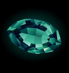 shiny beautiful alexandrite vector image