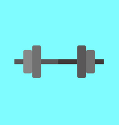 Simple weightlifting barbell graphic vector