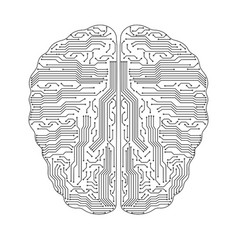 sing of brain sing of brain vector image