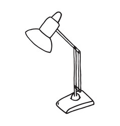 sketch desk lamp table lamp isolated on white vector image