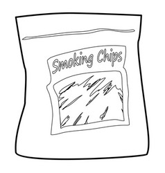 Smoking chips icon outline vector